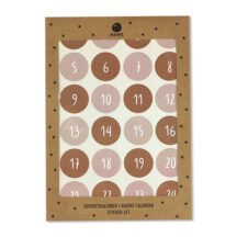 Adventskalender Sticker rose rost