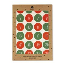 Adventskalender Sticker rot gruen