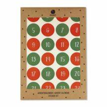 Adventskalender Sticker rot gruen