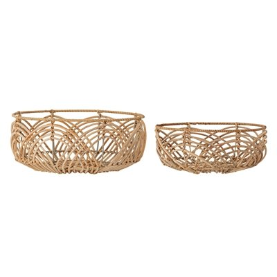 Brotkorb Set Natur Rattan (2 Stueck)