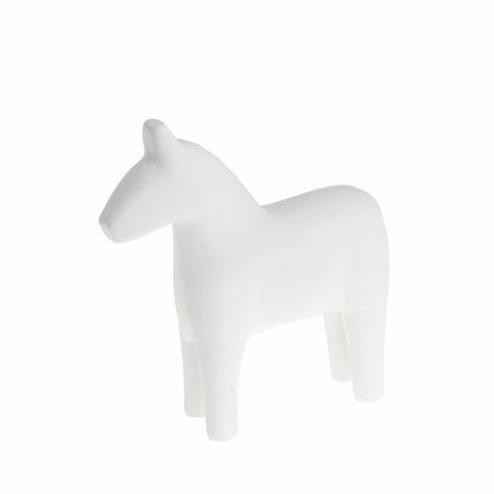 Deko Holzpferd weiß