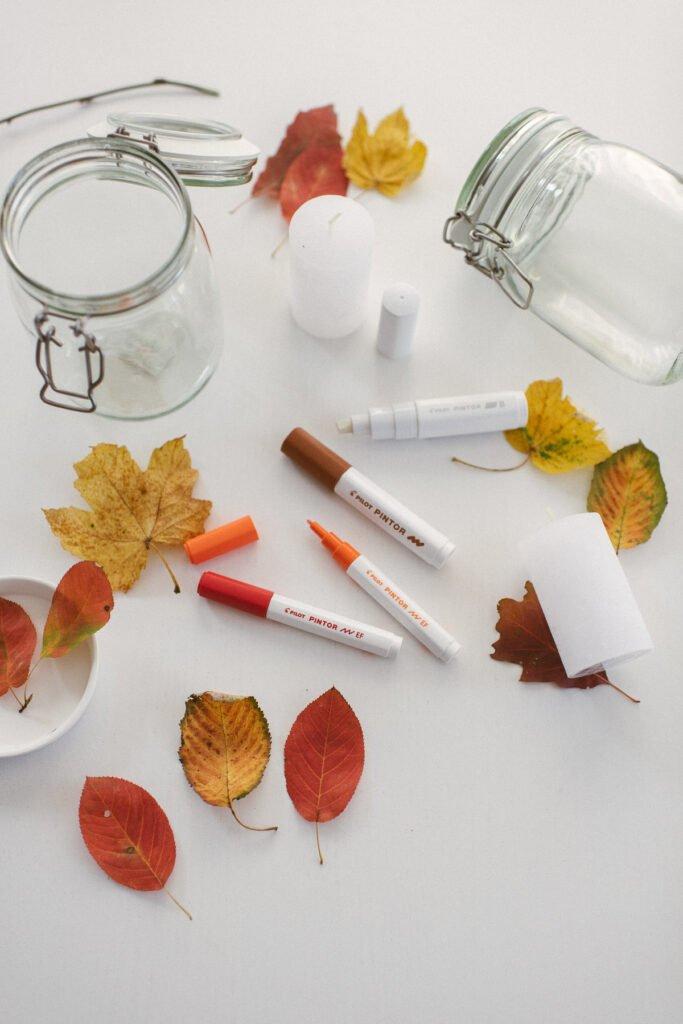 DIY: Herbstliches Windlicht mit PILOT PINTOR Kreativmarker