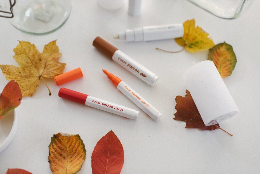 Herbst DIY Windlicht mit PILOT PINTOR Kreativmarker