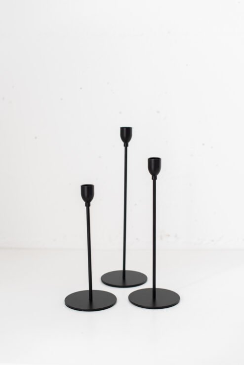 Kerzenhalter Malte 3tlg. Schwarz
