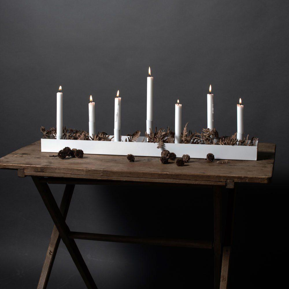 Kerzenhalter Sund weiß (groß)