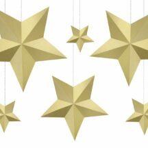 Papierdekoration Sterne Gold