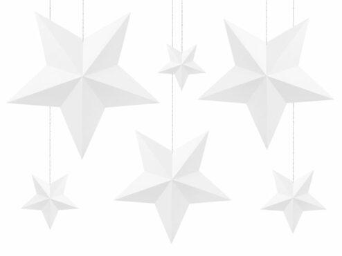 Papierdekoration Sterne weiß