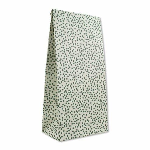 Papiergeschenktueten mint mit Punkten (6 Stueck)