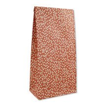 Papiergeschenktueten rot mit Punkten (6 Stueck)