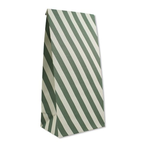 Papiergeschenktueten Streifen creme gruen (6 Stueck)