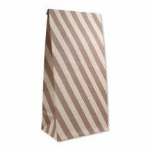 Papiergeschenktueten Streifen rosa altrosa (6 Stueck)