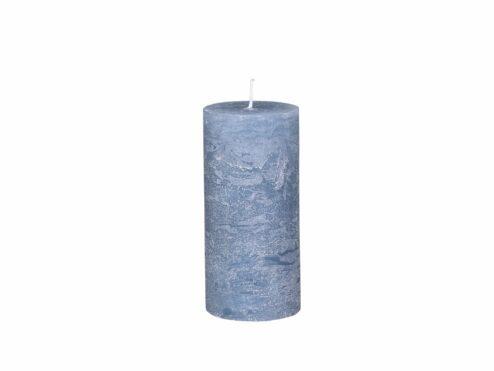 Stumpenkerze dusty blue 15cm