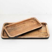 Tablett Paimio 2tlg schwarz Holz