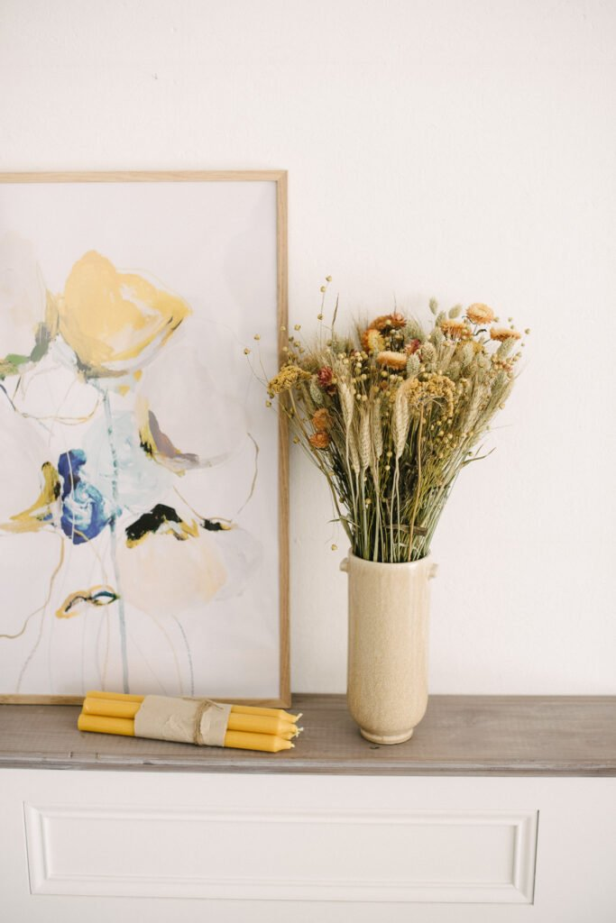 Trockenblumen dekorieren