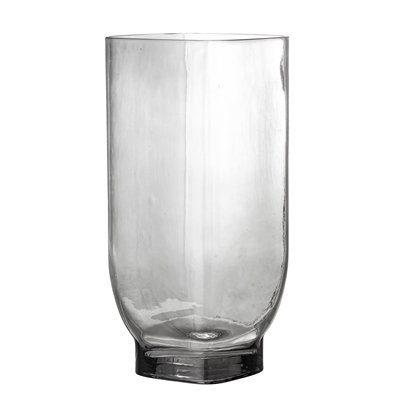 Vase grau Glas