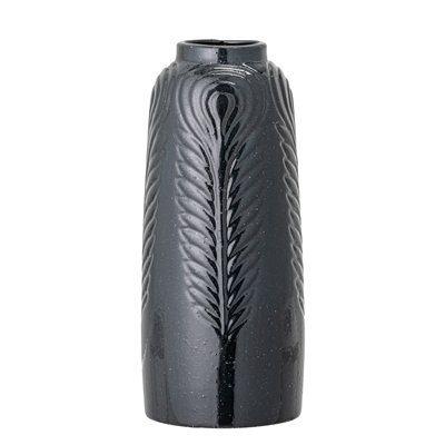 Vase schwarz Steingut