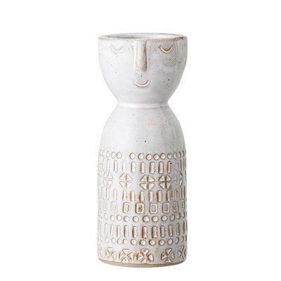 Vase weiß Steingut