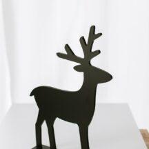 Elch Holz Dekoration Weihnachten-3