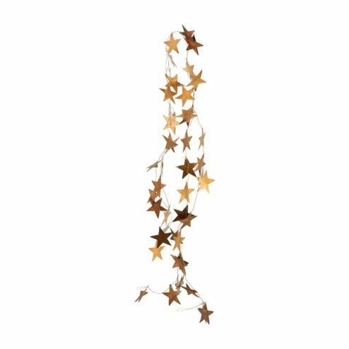 Girlande mit Messing Sternen