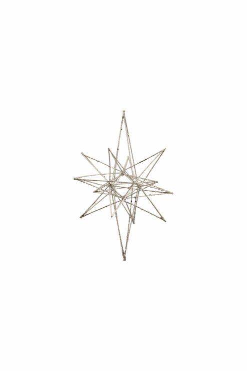 Ornament Star Champagne Glitzer