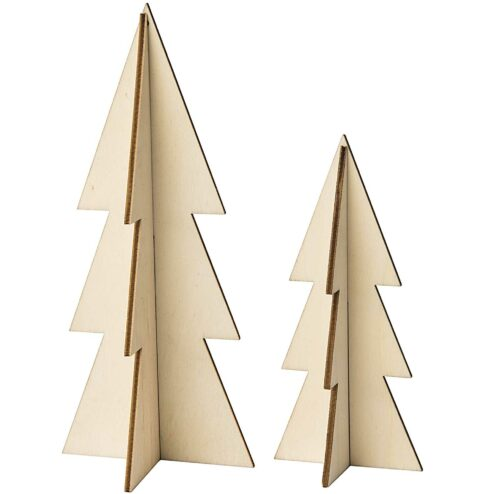 Steck-Tannen Set gezackt aus Holz