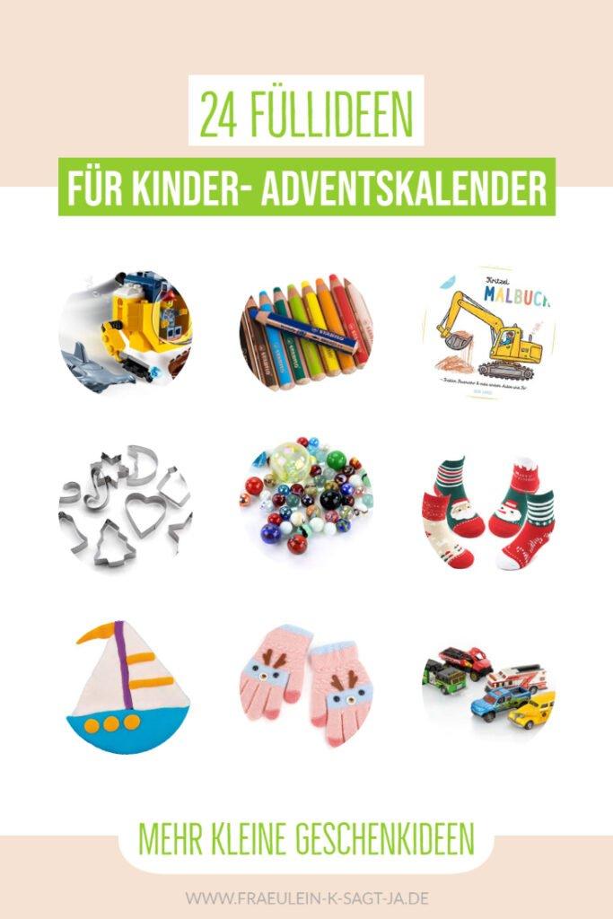 24 Füllideen für Kinder- Adventskalender - einfache Ideen für jedes Türchen im Advent um euren Adventskalender für Kinder zu füllen.