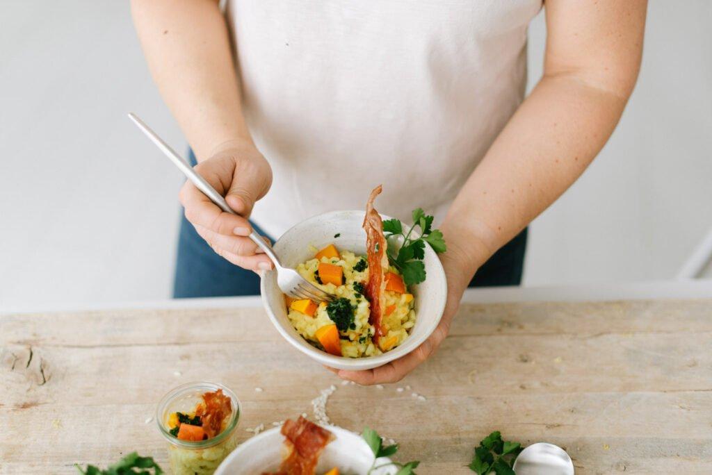 Fingerfood für Zwei: Risotto mit Kürbis und warmer Bumbardino reichen wir zur Silvesterparty im engsten Kreis - Rezepte für Silvester 2020