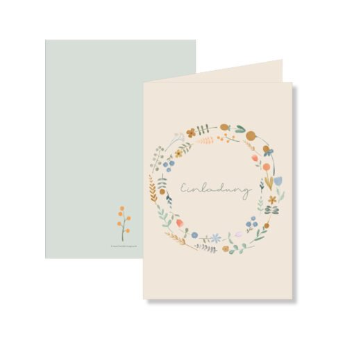 Einladungskarte Blossom