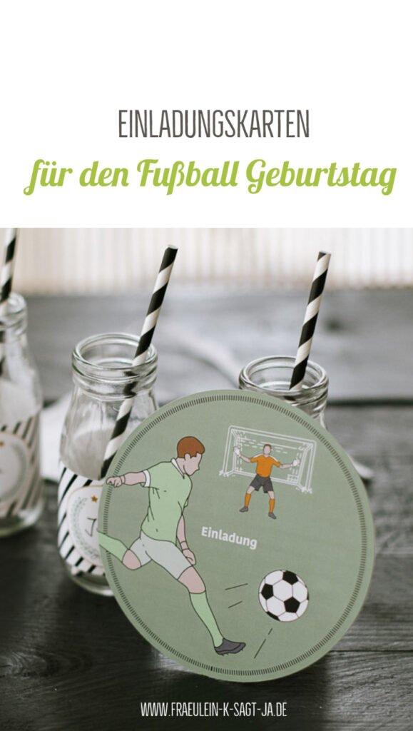 Einladungskarten für den Fußball Geburtstag - Coole Einladungen mit Fußballmotiven und Lückentexten zum einfachen Ausfüllen und Verteilen.