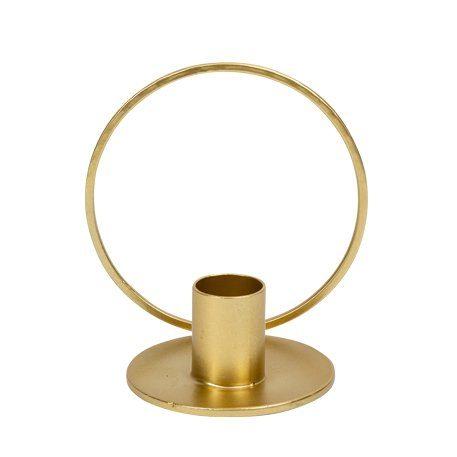 Kerzenhalter Gold mit Ring