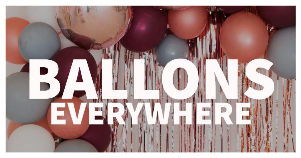 Ballons für eure Hochzeit