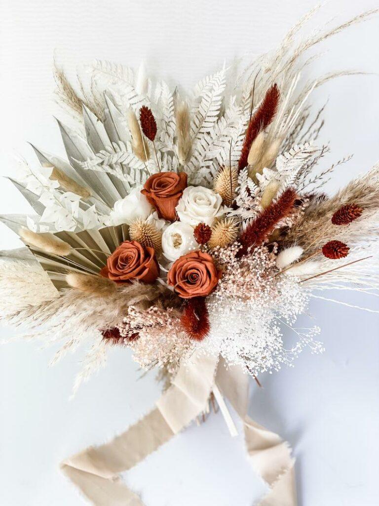Trockenblumen Strauß für die Braut