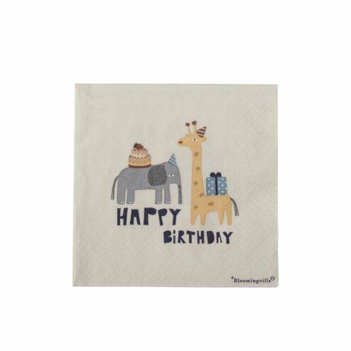 Papierserviette Carlis Happy Birthday