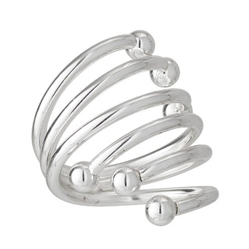 Serviettenring Stahl Silber (4 Stück)