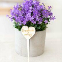 Blumenstecker Erzieher-in mit Herz