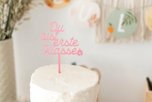 Cake Topper Du bist erste Klasse + Apfel