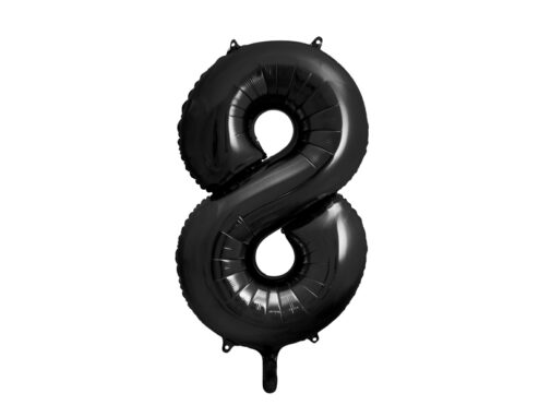 Folienballon Zahl schwarz