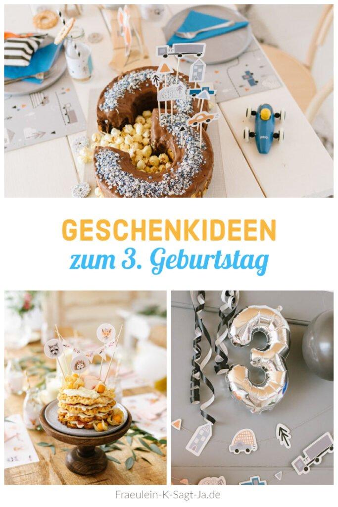 Geschenke zum 3. Geburtstag. Mehr als 10 schöne Geschenkideen für kleine Mädchen und Jungs zum dritten Kindergeburtstag + Deko- & Rezept-Ideen