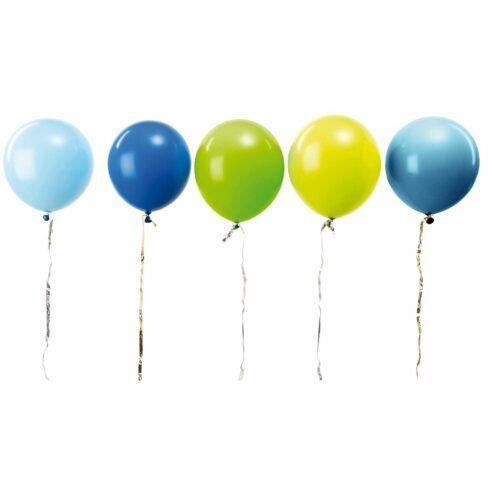 Luftballons Aqua Mix (12 Stueck)