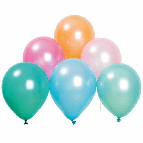 Luftballons Pastell Mix Pearl (12 Stueck)
