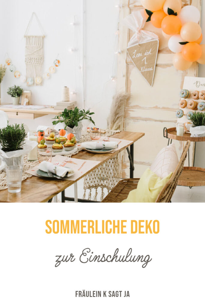 Sommerliche Deko zur Einschulung mit frechen Früchtchen: Einladungskarten, Servietten- Banderolen, Girlanden, uvm. für euren Schulanfang