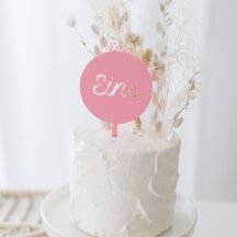 Cake Topper 'Emma' Name + Zahl pastell