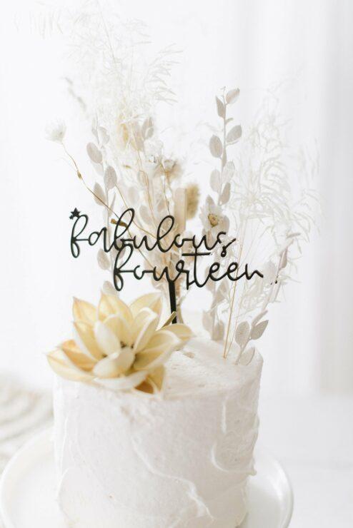 Cake Topper Fabulous fourteen