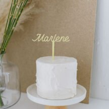 Cake Topper Name pastell Farbe