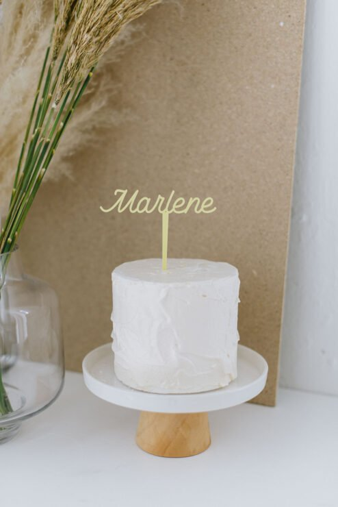 Cake Topper Name pastell Farbe