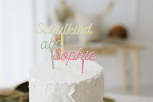 Cake Topper Schulkind Einschulung Name