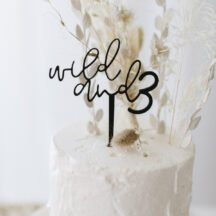 Cake Topper wild and 3