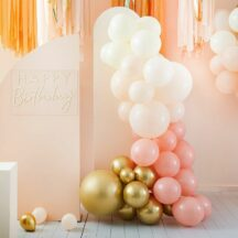 Ballongirlande peach und gold
