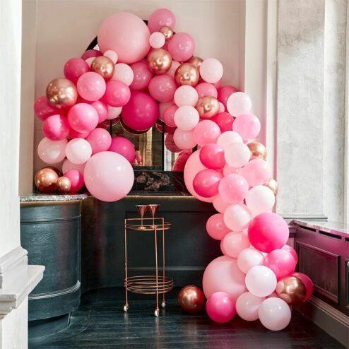 Ballongirlande pink