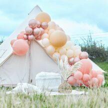 Ballongirlande roségold Chrome und nude